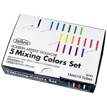 Designers  Gouache 5-Color 15ml Mixing Colors Set