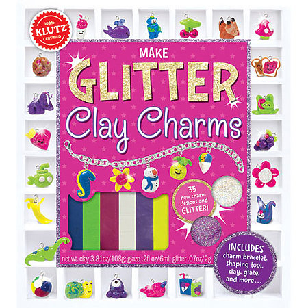 Glitter Clay Charms Kit
