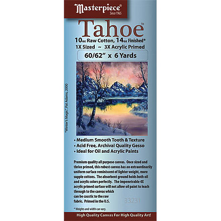 Tahoe Acrylic Primed Cotton Canvas Roll