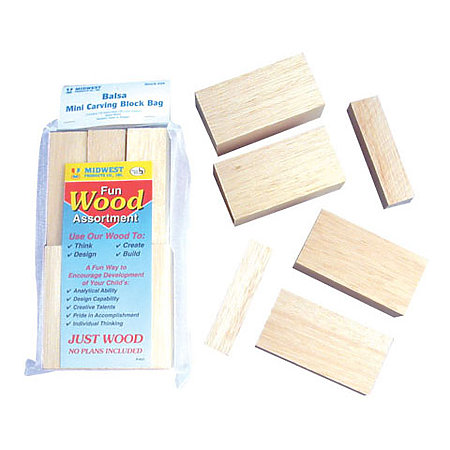 Mini Carving Balsa Blocks Set