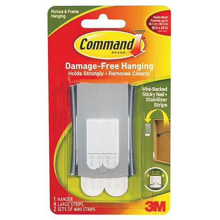 Command Wire-Back Sticky Nail Hanger