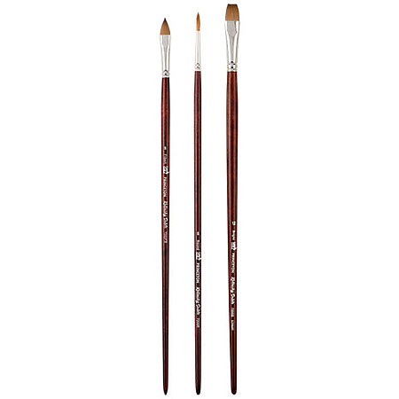 Siberia Genuine Kolinsky Sable Oil & Acrylic Brushes