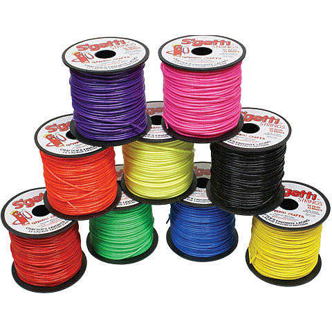 S/'getti Strings Plastic Lacing 50yd Red 725879239039