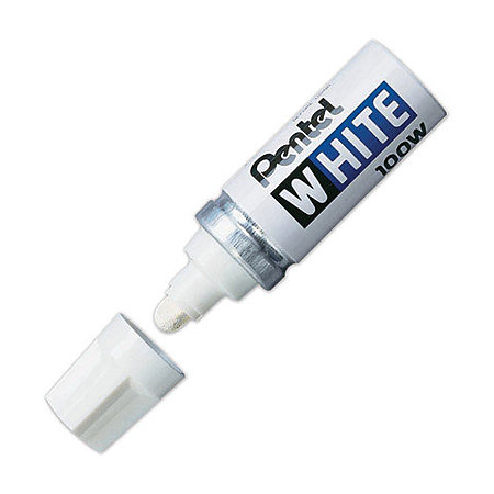 Pentel White Broad-Point Marker