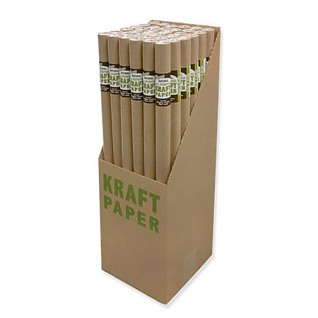 Natural Kraft Paper Rolls P.O.P. Display