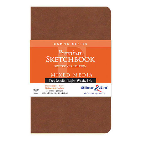 Gamma Series Premium Soft-Cover Sketch Books