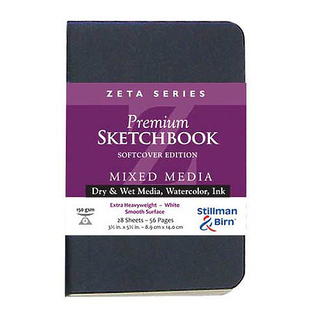 Zeta Series Premium Soft-Cover Sketch Books