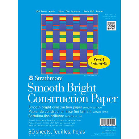 Kids Smooth Bright Construction Paper Pad
