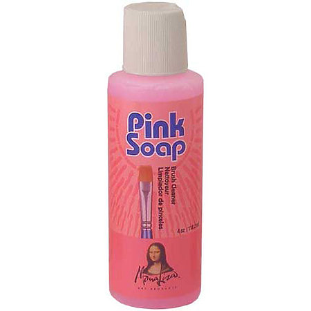 Pink Soap Artist Brush Cleaner