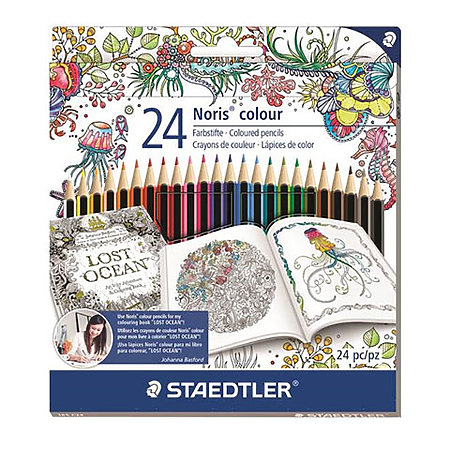 Johanna Basford Noris 24-Color Colored Pencil Set