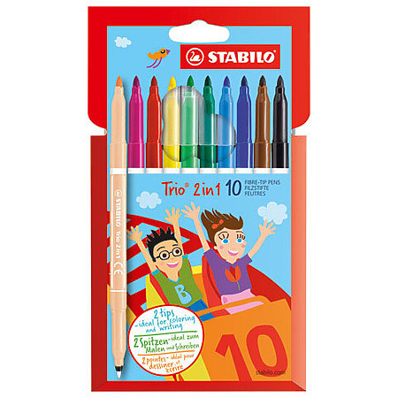 Trio 2 in 1 10-Color Marker Set
