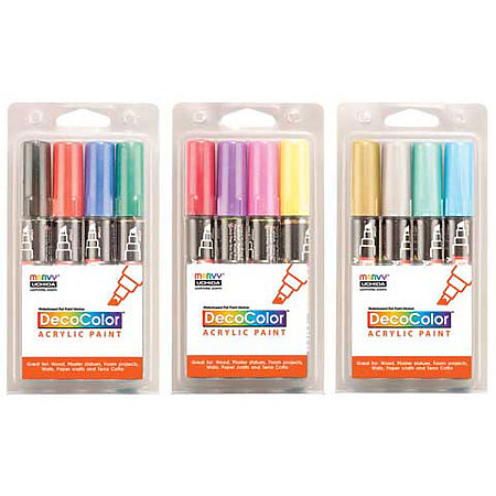 DecoColor Acrylic Paint Marker Sets