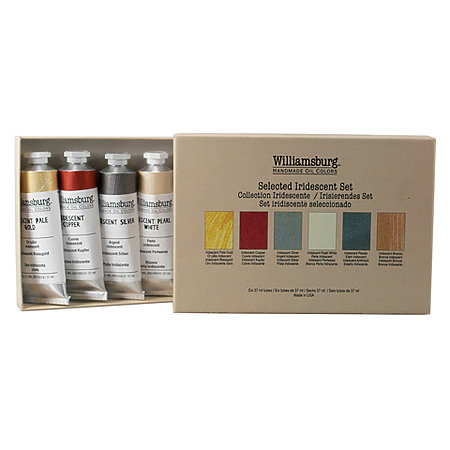 Williamsburg Handmade Oil Colors Selected Iridescents Set