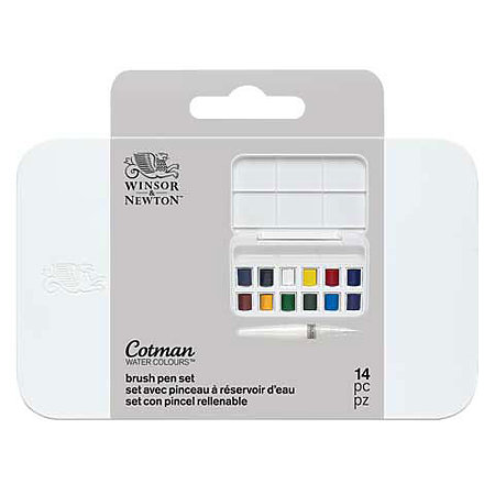 Cotman Watercolor & Water Brush Pen Set